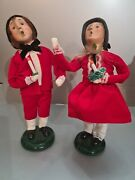 Rare Byers Choice Set Lot Victorian Figurines Girl Boy Child With Candle 1999