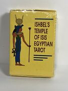 Ishbel's Temple Of Isis Egyptian Tarot Card Deck New Sealed Cond. Vintage 1989