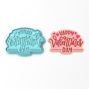 Happy Valentine's Day Cookie Cutter And Stamp   Dots Heart Love Cupid Valentines