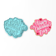 Happy Valentine's Day Cookie Cutter And Stamp   Hearts Love Cupid Valentines Heart