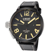 U-boat Menand039s Ub-1017-1 Classico 53mm Black Dial Leather Watch