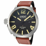 U-boat Menand039s Ub-1107-1 Classico 53mm Black Dial Leather Watch