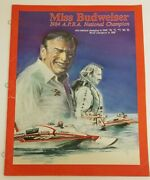 Vintage 1980and039s Miss Budweiser Bernie Little Unlimited Hydroplane Brochure