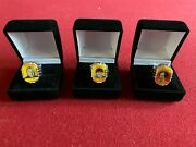 1960and039s Three Stooges Flicker Rings Set Of 3 Moe / Larry / Curly Vintage