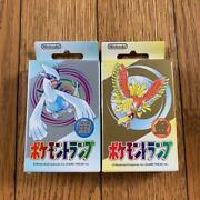 2 Decks1999 Nintendo Poker Playing Cards - Pokemon Gold And Silver- Sealed New