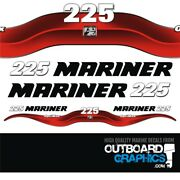 Mariner 225hp Optimax Outboard Decals/sticker Kit