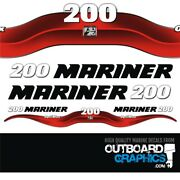 Mariner 200hp Optimax Outboard Decals/sticker Kit
