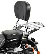Sissy Bar With Rear Rack Detachable For Harley Sportster Forty-eight 48 10-20 Ch