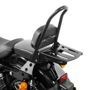 Sissy Bar Detachable+luggage Csm For Harley Sportster Forty-eight 48 10-20 Black