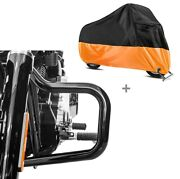 Set Engine Guard + Motorcycle Cover Xxxl For Harley Fat Boy 18-19