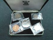 1968 Bank Of Zambia Royal Mint 5 Coin Proof Set Sealed And Boxed