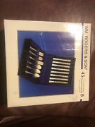 Wm Rogers And Son Victorian 24 Kt Goldplated Flatware 45 Piece Service For 8 With