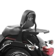 Sissy Bar Css Fix For Harley-davidson Softail 07-17 With Luggage Rack Black