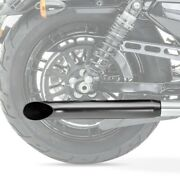 Exhaust Cafe Racer Turn Out For Yamaha Xvs 1100/ 650 Drag Star Black