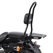 Sissy Bar Csl Fix For Harley Sportster 883 Low 04-10 With Luggage Rack Black