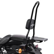 Sissy Bar Csxl Fix For Harley Sportster 883 Iron 09-20 With Luggage Rack Black