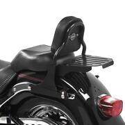 Sissy Bar With Luggage Rack For Harley Fat Boy Special/ Lo 10-17 Css Black