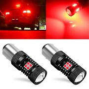 2x 1156 1141 Pure Red Led Brake Tail Stop Side Light Bulbs For Cars Trucks Suv