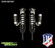 Icon Shocks Ext Travel Front Kit For 2003-2009 Toyota 4-runner With Cdcv 58745c