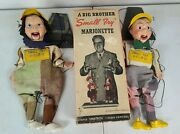 Vintage Small Fry Marionettes Boy And Girl. 1950's. Original Box