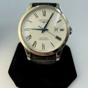 Estate Longines Record Collection Stainless Steel Manand039s Dress Wristwatch