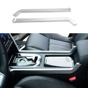 For Discovery Sport 2015-19 Silver Aluminum Middle Console Gear Shift Strip Trim