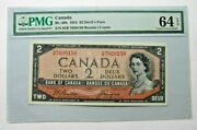 Canada Bc 30b 1954 2 Devils Face S/n H/b 7020150 Pmg 64 Epq. Ships To U.s. Only