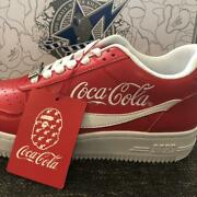 New [bape X Coca Cola] Bape Sta Low Red Us8.5 Red From Japan Free Shipping