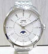 Oris Artlier Complication 7643-40 Moon Phase Automatic Silver Dial Stainless