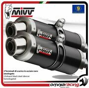 Mivv Gp Pair Of Exhaust Homologated Black Inox For Ducati Streetfighter 848 12
