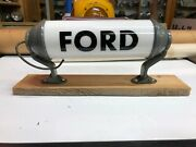 1940and039s Vintage Milk Glass Ford Light Old Truck Cab Anthes Van Bus Fire Display