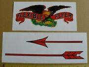Flexible Flyer Eagle And Arrow Sled Decal Adhesive Backed Sl102