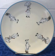 Rare Antique Heinrich And Co. H And Co. Selb Bavaria Children On Rim Plate 8 1/2andrdquo.