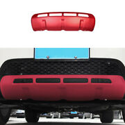 Fit For Discovery Sport 2015-2016 Red Front Bumper Diffuser Board Guard Trim 1pc