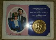 1981 British Royal Mint Gold Plated Princess Diana Commemorative Marriage Coin