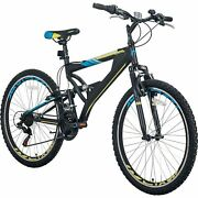 26 Mountain Bike Mens Bicycle Aluminum Frame With Full Suspension 21-speed Usa