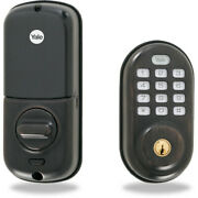 Yale Real Living Electronic Push Button Deadbolt Fully Motorized With Zwave Tech
