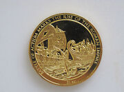 1975 Franklin Mint History Of Mankind Battle Of Actium Silver Art Medal P0100