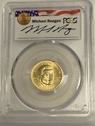 1997-w 5 Jackie Robinson Gold Coin Pcgsms69 - Reagan Legacy Series - Pop Of 2