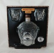 Monkey Head Vodka Empty Clear Glass Bottle Decanter With 2 Shot Glasses