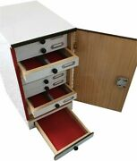New Wooden Microscope Slide Storage Cabinet For 1000 Slides With Lock