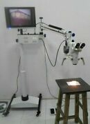 Ent 5 Step Dental Surgical Microscope - Motorized With Accessories And Led Monitor