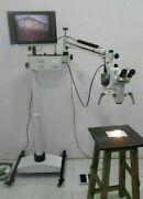 Ent 5 Step Dental Surgical Microscope Motorized With Accessories And Led Monitor 4
