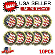 Us Navy Veteran Challenge Coin Honor Courage Commitment Coins 10pcs Set
