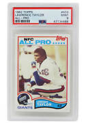 Lawrence Taylor New York Giants 1982 Topps 434 Rc Rookie Card -psa 9 Mint C