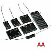 1 2 3 4 5 6 10 X Aa Battery Holder Batteries Box Case Open Storage With Wire Aa