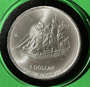 2015 Cool Islands Sailing Ship 1 Troy Oz .999 Fine Silver Collectible Coin Round