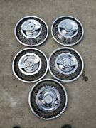 5 Monza Corvair 1960and039s Chevy Gm 2 Bar Wire Spoke Spinner Hubcaps 13