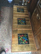 Ultra Rare George Briard Bouquet Butterfly Neon Tile 3 Mid Century Tables Retro