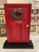 Red Door Accessory For Byers Choice Carolers With Wreath And Brass Nameplate